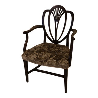 Late 18th Century Georgian Heart Back Arm Chair For Sale