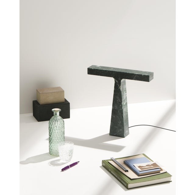 Red Levanto Marble Lamp by Niko Koronis, Made in Italy For Sale - Image 9 of 10