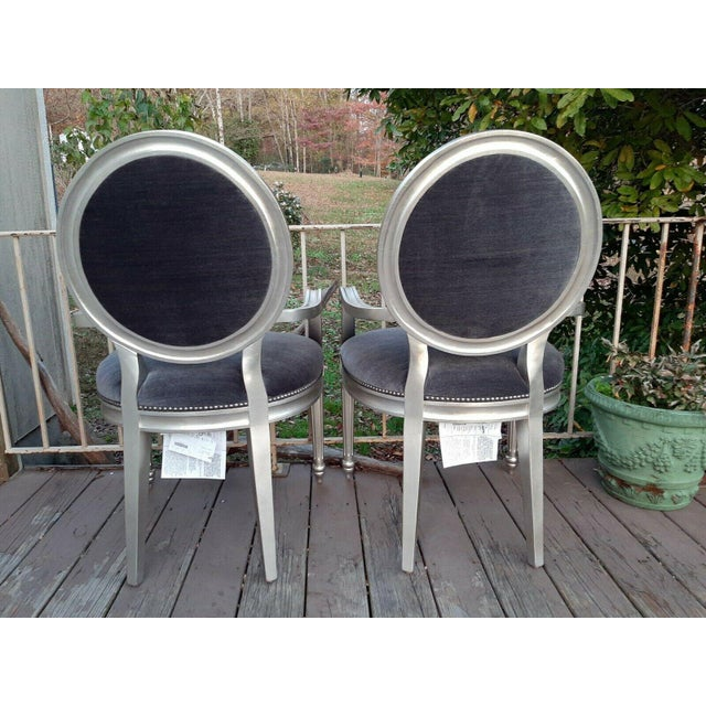 French Bernhardt Louis Arm Chairs - a Pair For Sale - Image 3 of 13