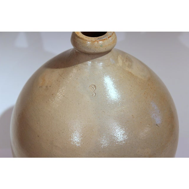Stoneware Jug Ovoid Antique Early 19th Century 3 Gallon Moonshine Country New England For Sale - Image 10 of 13