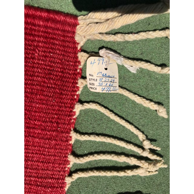 """Vintage Mohair Handwoven Wool Rug- 3' X 6'5"""" For Sale - Image 4 of 5"""