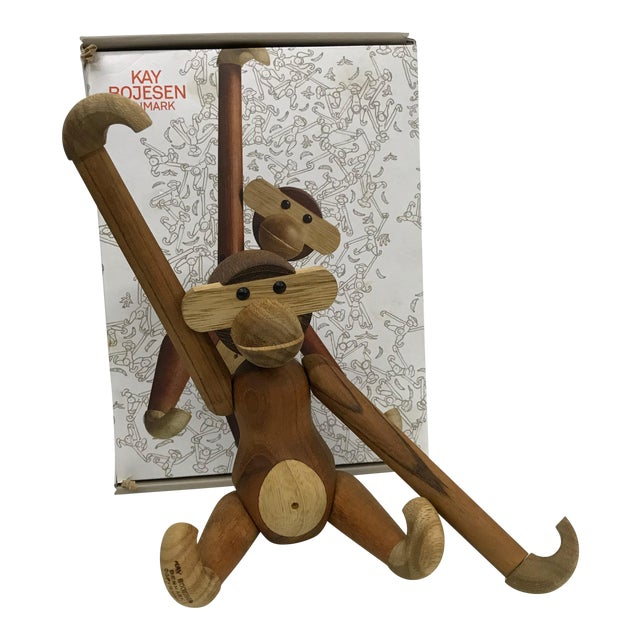 Mid-Century Danish Modern Teak and Ebony Articulated Monkey by Kay Bojensen For Sale