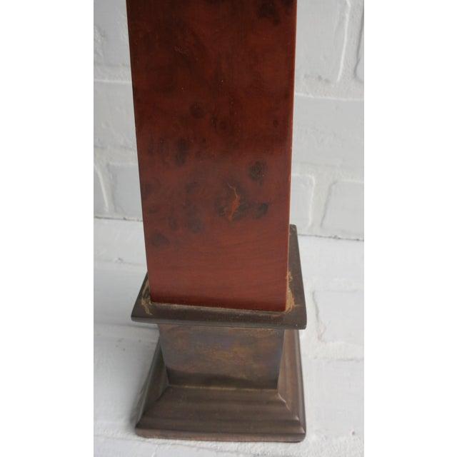 Brass Frederick Cooper Brass & Burl Wood Large Obelisk For Sale - Image 7 of 13