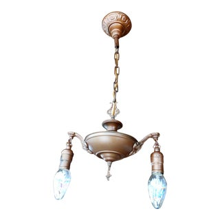 Antique Copper Painted Chandelier