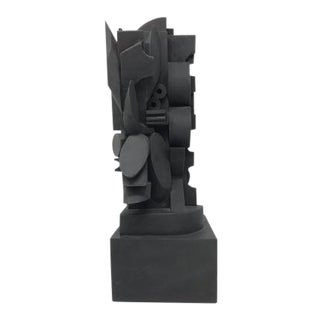 "Vintage Mid-Century Louise Nevelson ""The Dark Elipse"" Wood Cut Sculpture For Sale"