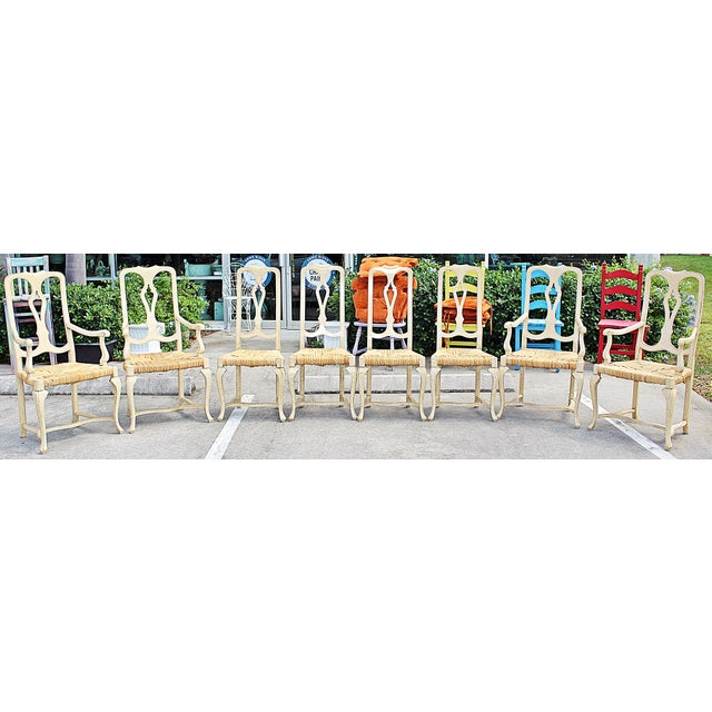 1960s Vintage Painted Dining Chairs- Set of 8 For Sale - Image 13 of 13