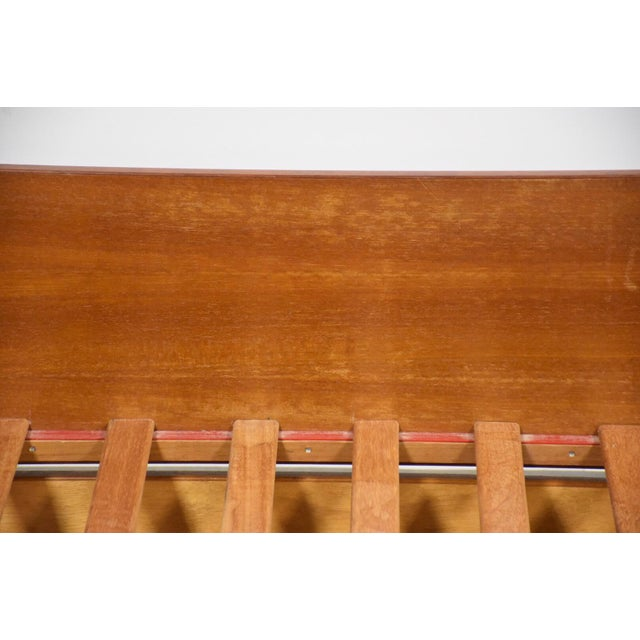 Orange Teak Danish Twin Trundle Bed For Sale - Image 8 of 9