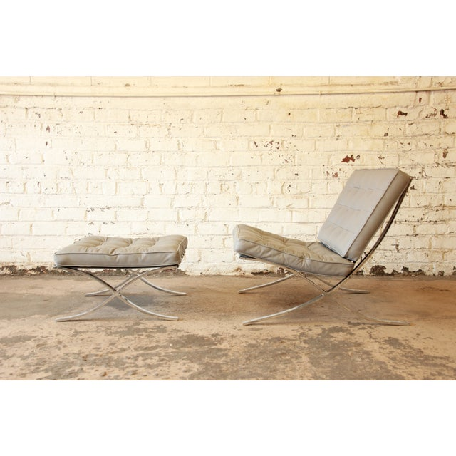Van Der Rohe Barcelona Chairs & Ottomans -Set of 4 - Image 7 of 11
