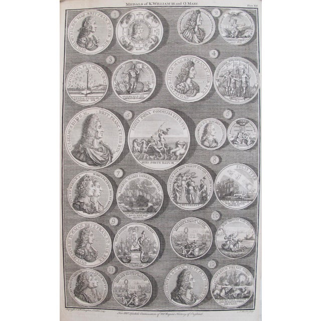 Original 1745 British Engravings, Royal Medals - A Pair - Image 6 of 9