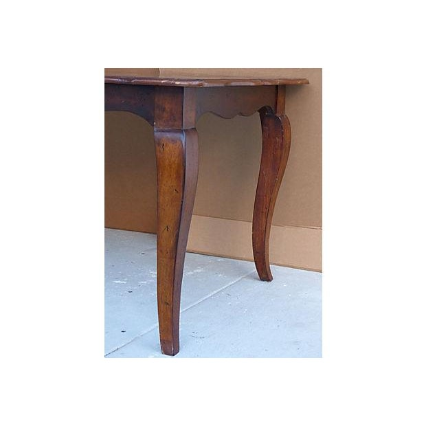 Extendable Parquet-Style Dining Table - Image 8 of 10