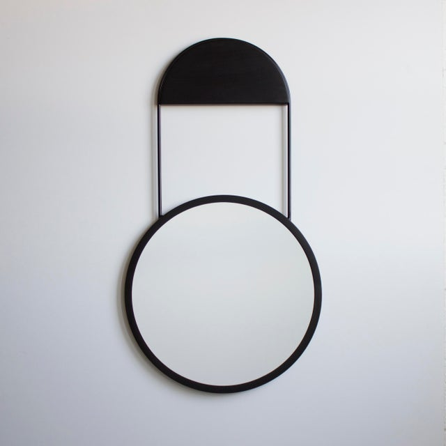 Black 20in Penny Hanging Mirror For Sale - Image 8 of 8