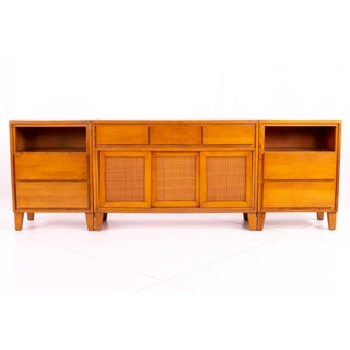 Mid Century Russel Wright for Conant Ball 3 Piece Blonde Buffet Preview