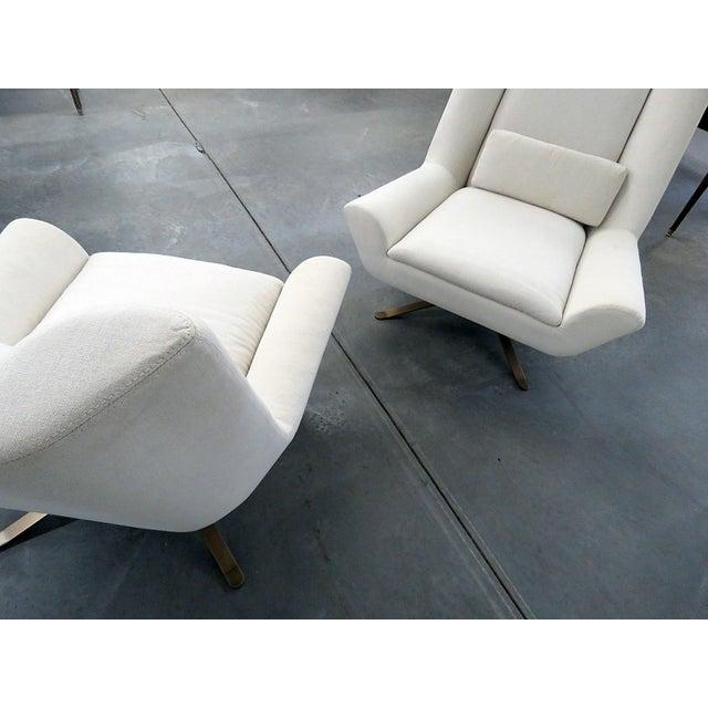 Metal Pair of Restoration Hardware Luke Swivel Chairs For Sale - Image 7 of 10