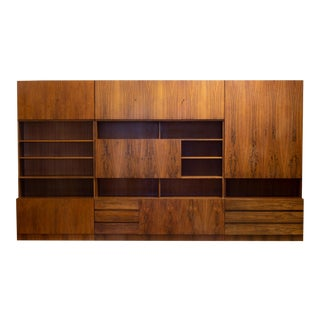Mid-Century Rosewood Modular Wall Unit Designed by Georg Satink for Wk Mobel C.1950 For Sale