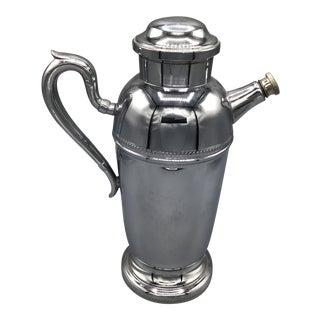 Vintage Chrome Plated Tea Pot Style Cocktail Mixer For Sale