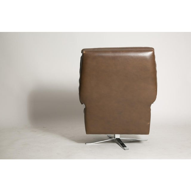 Modern Arne Norell Leather Club Chairs - Set of 2 For Sale - Image 3 of 9