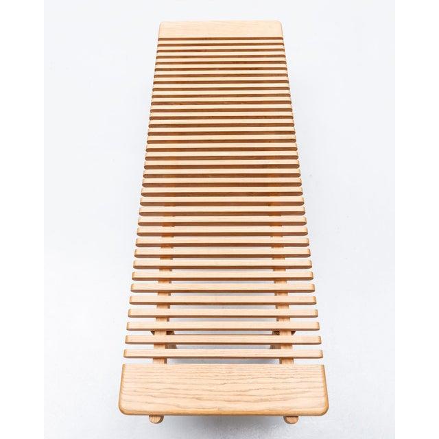 Mid-Century Modern Rare Bench by Hans Wegner for Johannes Hansen in Ash, Denmark, 1950s For Sale - Image 3 of 9