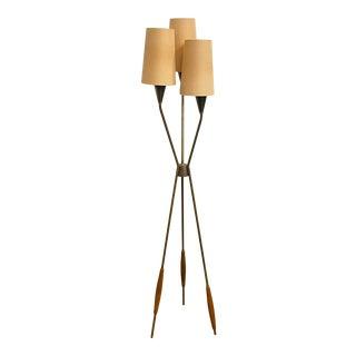 Mid-Century Modern Gerald Thurston Tripod Floor Lamp For Sale