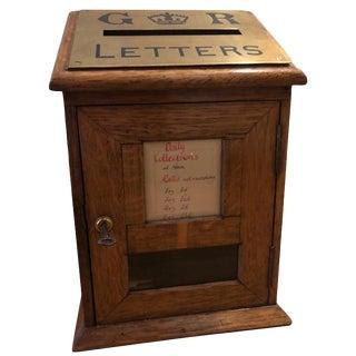 Early 20th Century Edwardian Diminutive Oak Post Box For Sale