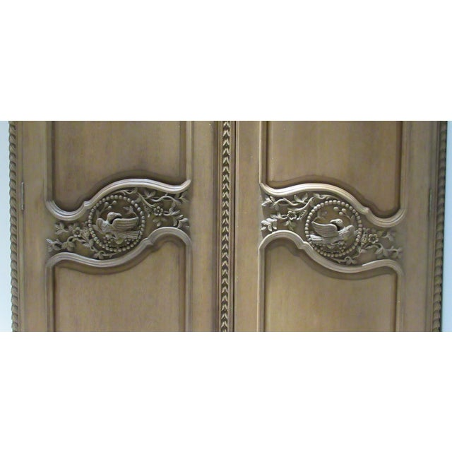 Wood Early 20th Century French Louis XV Style Carved Mahogany Wood Wall Cabinet/Armoire For Sale - Image 7 of 13