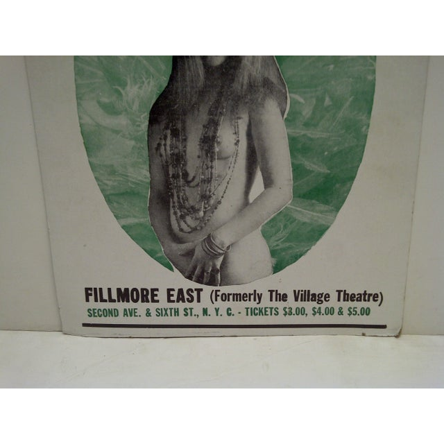 March 8, 1968 Janis Joplin Filmore East Theatre Concert Poster For Sale - Image 5 of 6