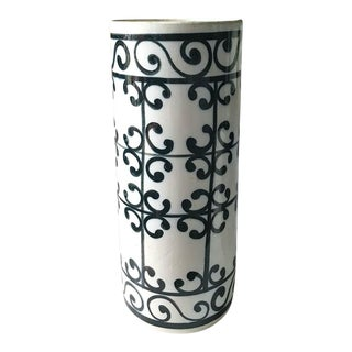 Mid Century Spanish Ceramic Umbrella Stand, Vase For Sale