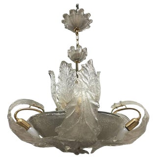 Italian Mid-Century Barovier and Toso Chandelier For Sale