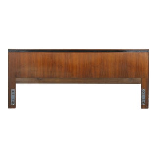 1970s Mid-Century Modern Merton Gershun for Dillingham Esprit King Headboard For Sale