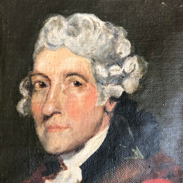 American Antique Thomas Jefferson Oval Oil Portrait For Sale - Image 3 of 6