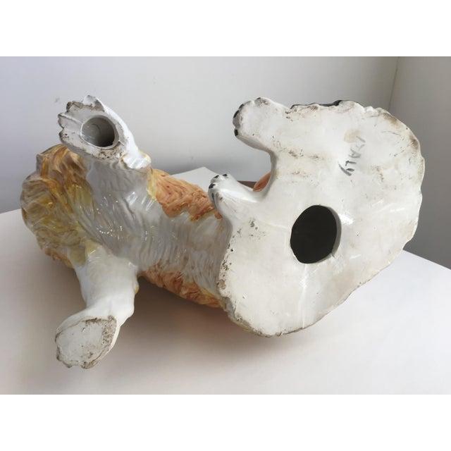 Italian Ceramic Collie Statue For Sale - Image 9 of 9