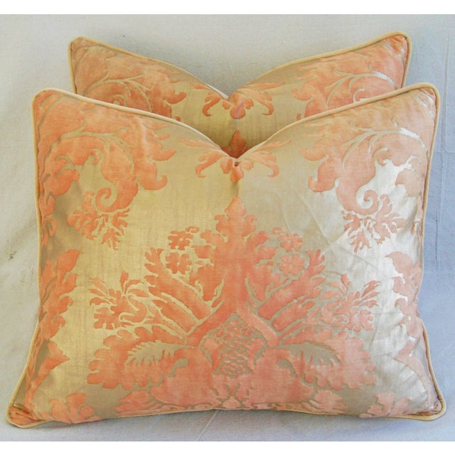 Italian Fortuny Glicine Gold Pillows - A Pair - Image 3 of 11