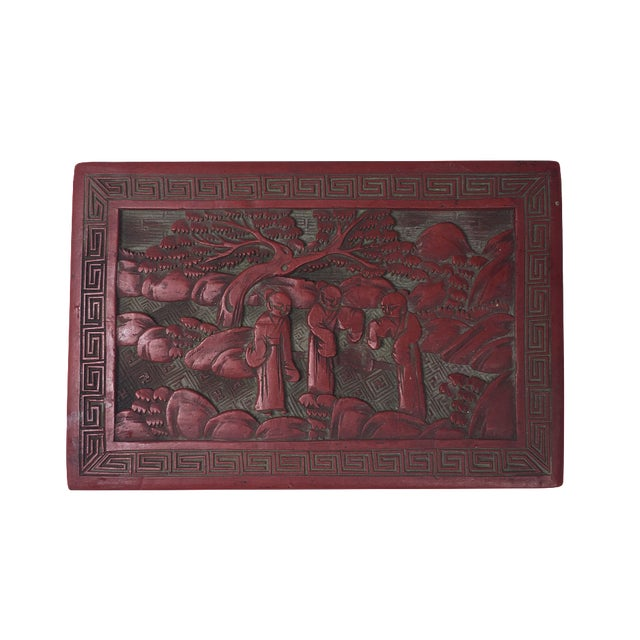Red Chinoiserie Box - Image 1 of 6