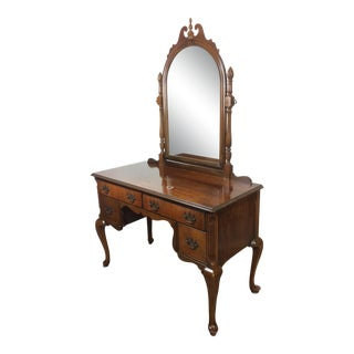 20th Century Traditional Maddox Table Co Mirrored Vanity Desk For Sale