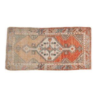 "Vintage Distressed Oushak Rug Runner - 2'6"" x 4'11"""