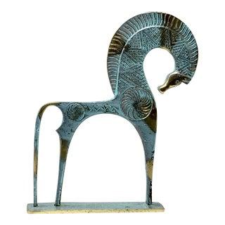 Fredrick Weinberg Style Bronze W/ Verdigris Finish Etruscan Horse For Sale