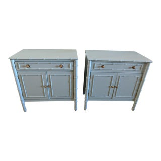 Vintage Faux Bamboo Cabinet/Bachelor's Chests - a Pair For Sale