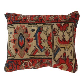 1900s Persian Leon Banilivi Pillow with Antique Persian Rug Fragment For Sale