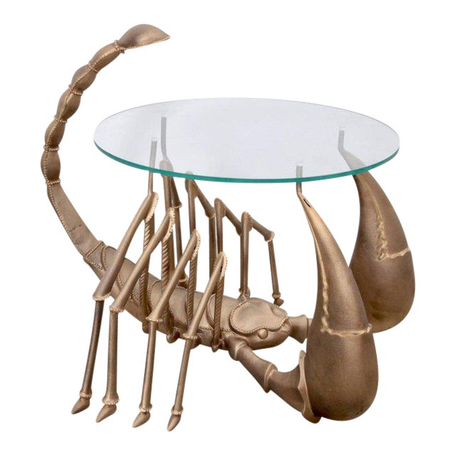 Rare Brass Scorpion Coffee Table attributed to Jacques Duval-Brasseur - Image 1 of 7