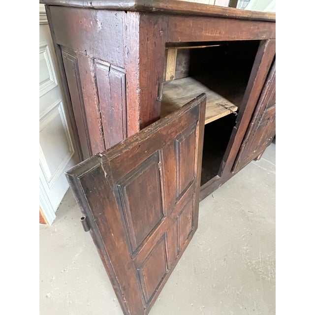 Antique Rustic French Country Louis XIV Hardwood Two Door Storage Cupboard For Sale - Image 9 of 13