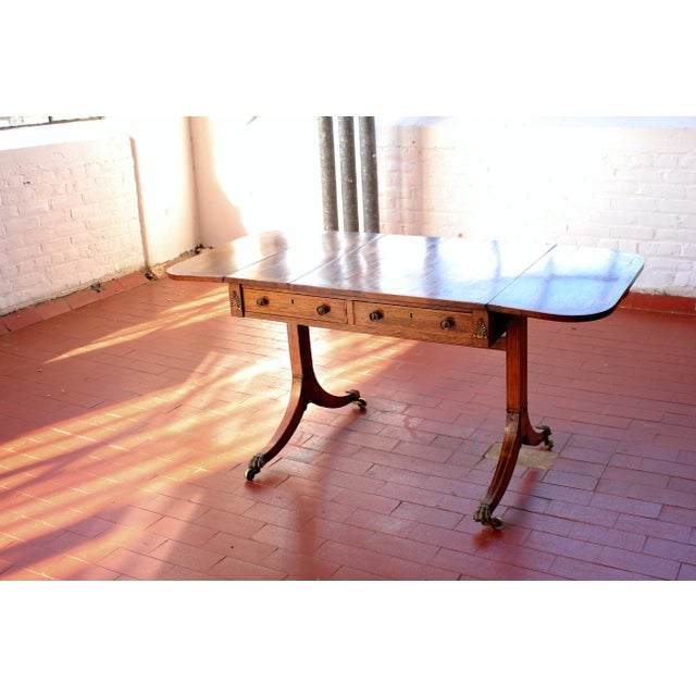 Traditional Antique Victorian Rosewood Writer's Desk For Sale - Image 3 of 13