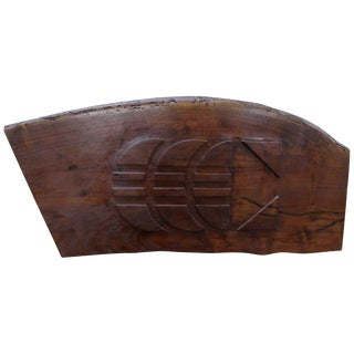 Rosewood Wall Sculpture For Sale