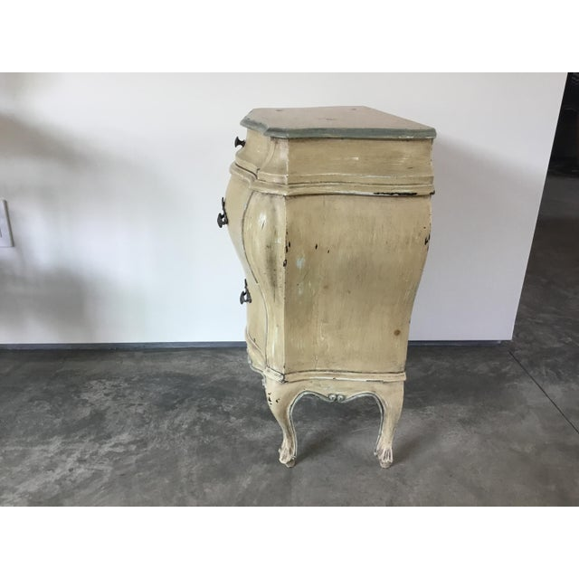 Wood French Bombay Style Night Stand For Sale - Image 7 of 11