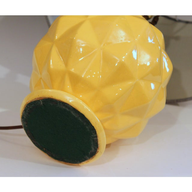 Vintage Stangl Art Deco Pottery Geodesic Dome Sphere Globe Yellow Vase Lamp For Sale In New York - Image 6 of 9