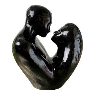1990s Vintage Ceramic Haeger Man and Woman Sculpture For Sale