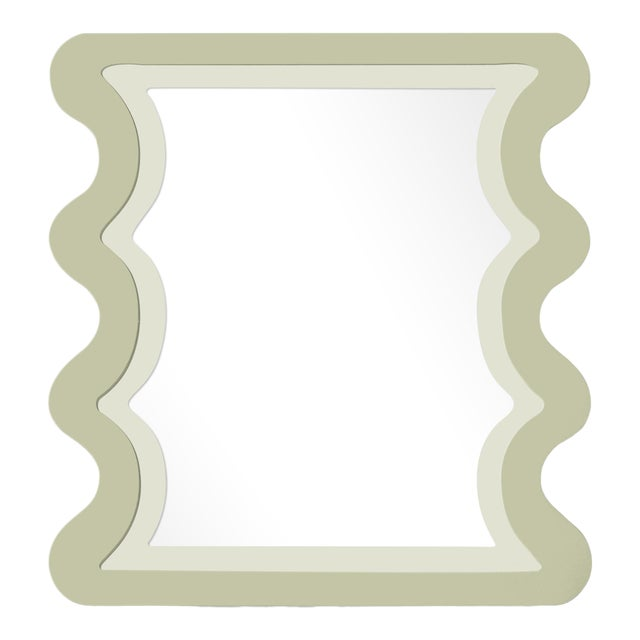 Fleur Home x Chairish Carnival Mystic Rectangle Mirror in Cooking Apple Green, 24x36 For Sale