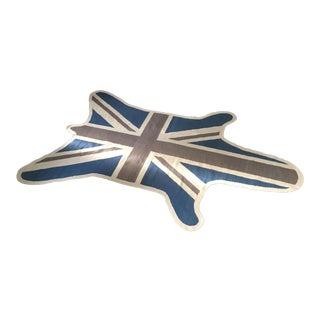 Jonathan Adler Custom British Flag Zebra Rug - 6′ × 9′