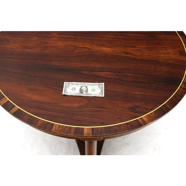 Round Rosewood Neoclassical Rosewood Banded Top Coffee Center Table For Sale - Image 9 of 11