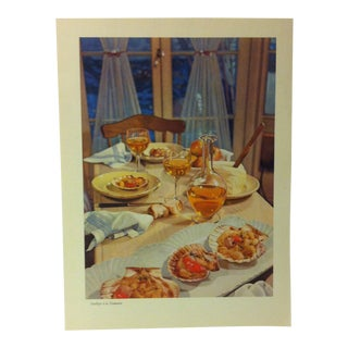 """1957 """"Scallops a La Nantaise"""" the Influence of the Shell to Humankind Print For Sale"""