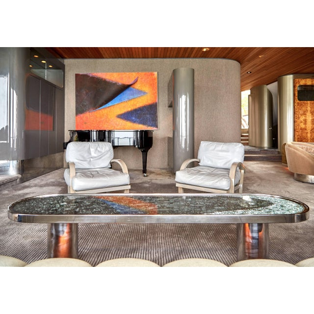 Gray 1984 Leather Lounge Chairs for Steve Chase Designed Home - a Pair For Sale - Image 8 of 10