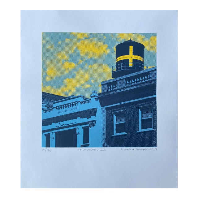 """""""Andersonville"""" Contemporary Serigraph by Hiroshi Ariyama For Sale"""